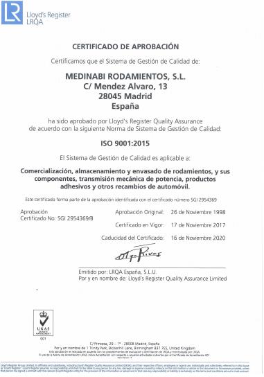 Certificado Medinabi